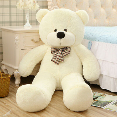 "Giant Teddy Bear Huge Stuffed Plush Animal Toy 63"" White Valentine Birthday Gift"
