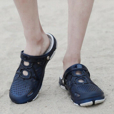 Summer Mens Beach Sandals Outdoor Hollow-out Slippers Breathable Anti skid Shoes