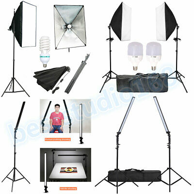 Photography Studio Video LED Dimmable Continuous Lighting Softbox Kit + 2M Stand