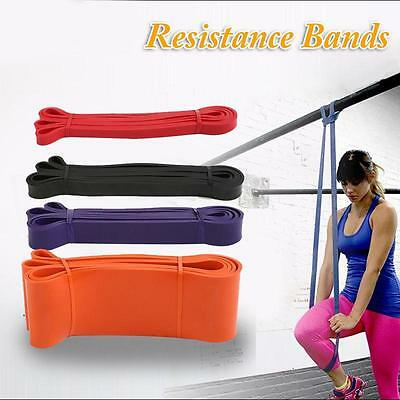 Heavy Duty Resistance Band Loop Power Gym Fitness Exercise Yoga Rubber Workout