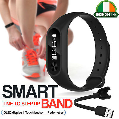 Bluetooth Smart Bracelet Sport Fitness Watch Tracker M2 Plus For Apple Android