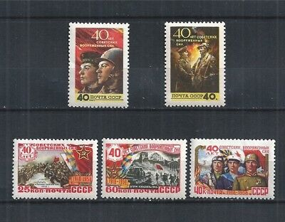 SOWJETUNION USSR 1958 MiNr: 2053 - 2057  ** 40 YEARS RED ARMY FORCE