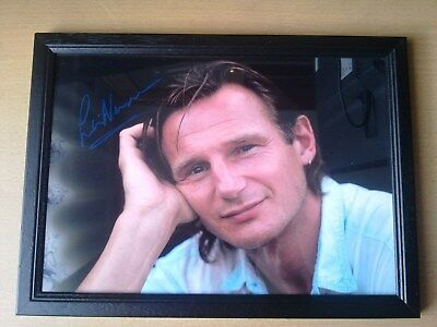 Liam Neeson Signed Framed A4 Print Gift (30 x 21cm)