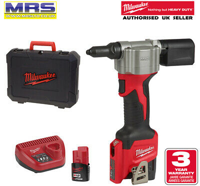 Milwaukee M12Bprt-201X Pop Rivet Tool Kit - 4933464406