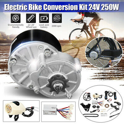 24V 250W Electric Bike Conversion Motor Controller Kit For 22-28'' Ordinary Bike