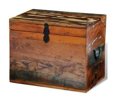 Wooden Storage Box Vintage Chest Boxes Solid Wood Trunk Organizer With Lid Home