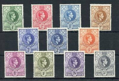 Swaziland 1938-54 short set to 5s + 3d shade SG28/37a MM cat £112