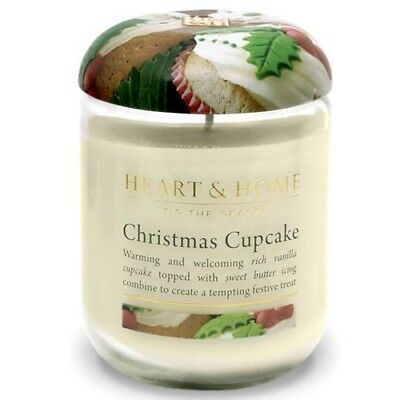 Extra Large Aromatherapy Candle Jar - Christmas Cupcake - 80 hour burn time