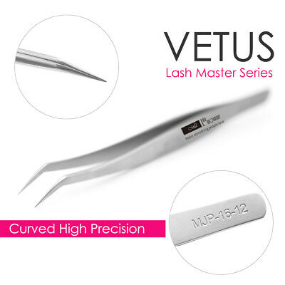 VETUS Lash Master Series Tweezers MJP16-12 Fine Precision for Eyelash Extension