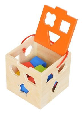 Childrens Wooden  Shape sorter Sorting Blocks Box Kids Wooden Premium Collection