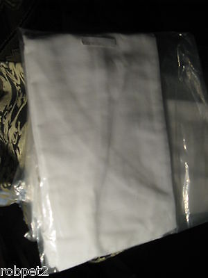 NEW  White  Uncommon Threads Classic Bib Apron No Pockets Long Ties