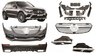 Mercedes X253 GLC Coupe 63 AMG body kit bumper conversion Front Rear+EXHAUST