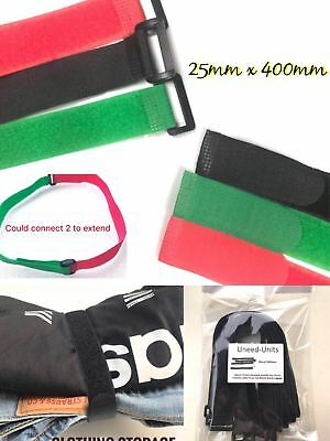 2.5cmx40cm PACK Fastening Cable Ties Buckle Hook and Loop Strapping Band Luggage