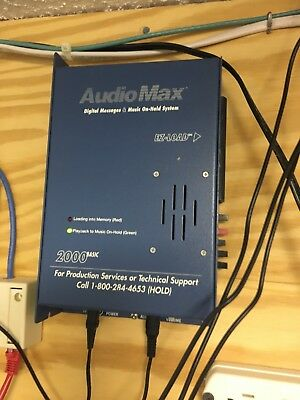 Audio Max 2000basic Digital Message and Music On-Hold System