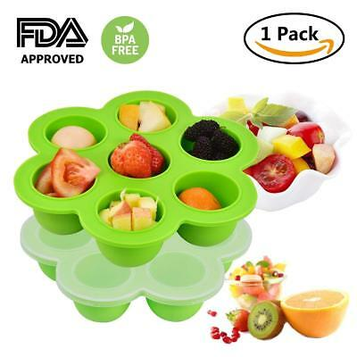New Weaning Baby Food Silicone Freezer Tray Storage Container BPA Free Frugal