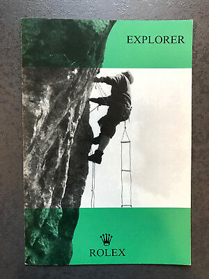 Rolex Explorer Booklet for Ref. 1016 from 1969 stunning Condition