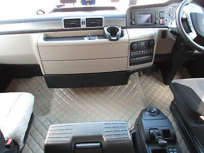 TRUCK Floor Mats RHD For MAN TGX 2006 - 2018 EURO 5 6 AUTOMAT BEIGE Eco Leather