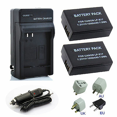 New Decoded For Canon EOS 750D 760D M3 LP-E17 / LC-E17E Battery or Charger
