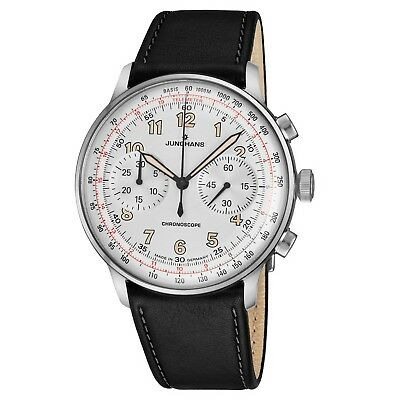 Junghans Men's Meister Telemeter Leather Strap Self Winding Watch 027/3380.00