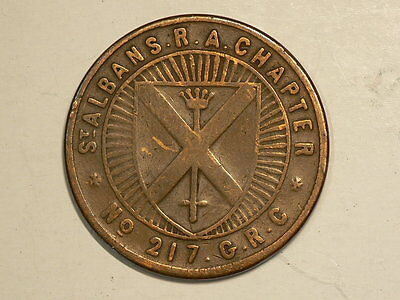 ST Albans R.A. Chapter No 217 GRC, Masonic Penny #G7313