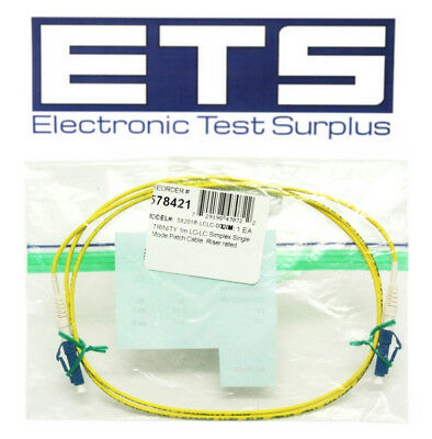 Trinity Fiber Optic 1 Meter LC To LC Simplex MM Optical Patch Cable 62.5um