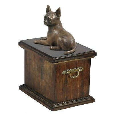 Chihuahua - wooden urn for dog's ashes, high quality, Art Dog type 1 AU