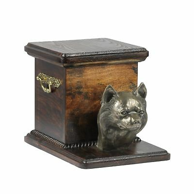 Chihuahua - wooden urn for dog's ashes, high quality, Art Dog type 2 AU