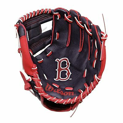 MLB Boston Red Sox Wilson A200 Guanto da Baseball 10 Pollici Logo Ragazzo