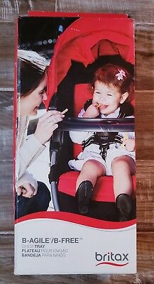 Britax Child Tray For Single B-Agile, B-Free And Pathway Strollers, Black