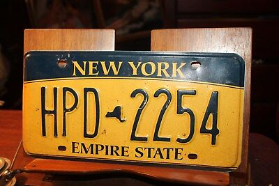 2010 New York Empire State License Plate HPD 2254
