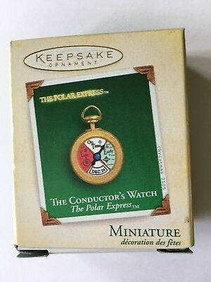 Hallmark 2005 The Conductors Watch The Polar Express Miniature Ornament