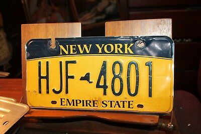 2010 New York Empire State License Plate HJF 4801 (A) rOUGH
