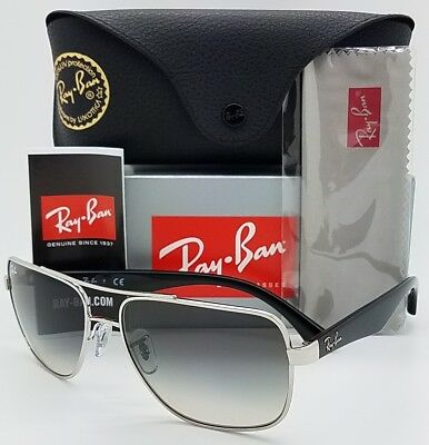 49aacc404f9 NEW Rayban sunglasses RB3483 003 32 60 Black Silver Grey Gradient AUTHENTIC  3483