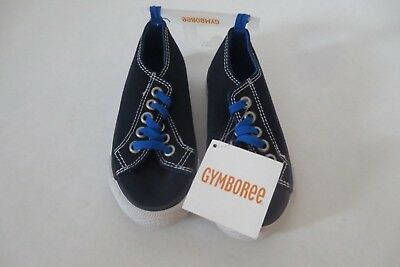 NEW TAGS Gymboree Boys Size 9 Navy Blue Canvas Tennis Shoes Sneakers Athletic