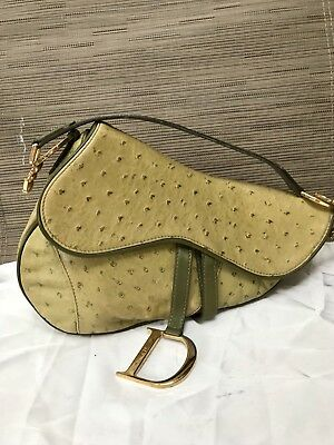 595ee6a82c03 AUTHENTIC CHRISTIAN DIOR Vintage Ostrich Green Saddle Bag -  400.00 ...