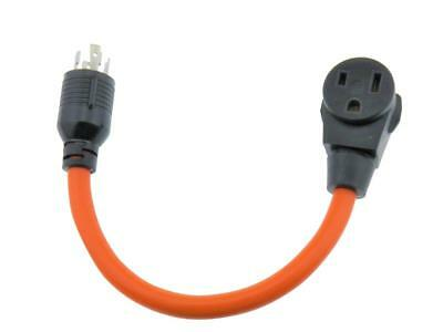 MPI Tools L14-30P to N6-50R RV Power Cord adapter 30 amp to 50 amp 3 wire 18""