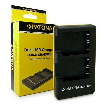 Patona Dual USB charger 1957 for battery pack Fujifilm NP-W126 NP-W126s