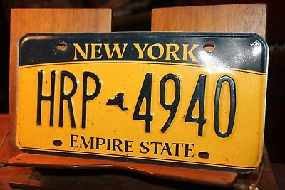 2010 New York Empire State License Plate HRP 4940 (B) BENT