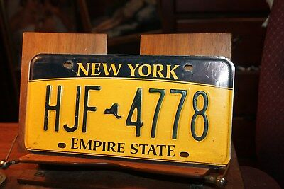 2010 New York Empire State License Plate HJF 4778
