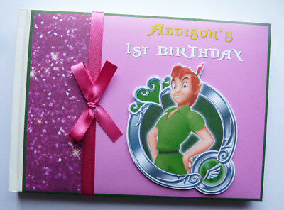 Personalised Peter Pan Girl's Birthday Guest Book - Any Design