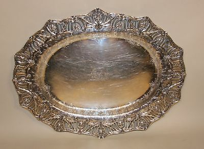 Graff Washbourne & Dunn Sterling Silver 18 Inch Oval Serving Tray Platter