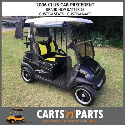Club Car Precedent 2006 2 Seat Golf Cart Buggy Black Yellow Custom Seats Custom