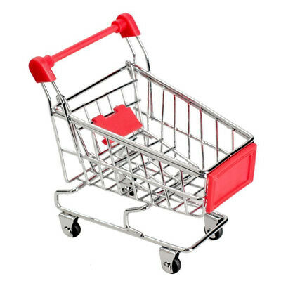 Mini Shopping Cart Supermarket Handcart Trolley Kids Pretend Play Toy Red GN