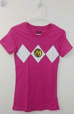 6ed03f6a696 NWT PINK RANGER Power Rangers Small Sm New Tee shirt Mighty Fine Morphin