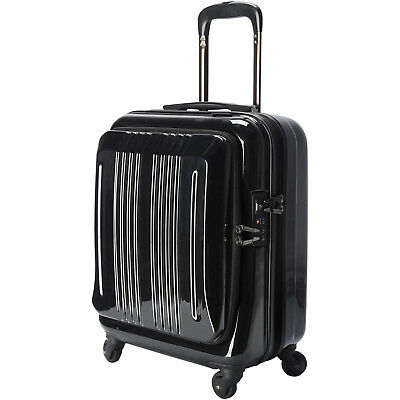 18 Inch Carry-On Spinner Wheels Suitcase Luggage Travel Bag TSA Lock Black New