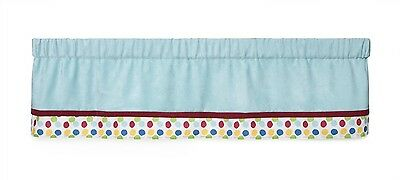 Kids Line Window Valance Animal Parade Nursery Blue Polka Dot Red Baby Infant