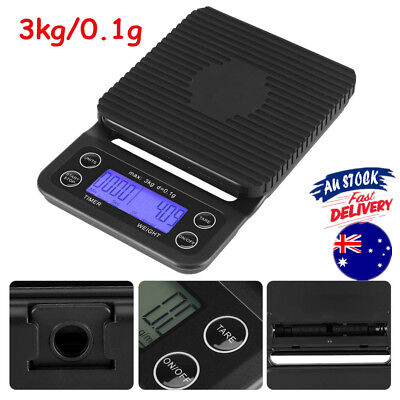 Electronic Coffee Scale Portable Timer Function Digital Drip Scale 3kg/0.1g OZ
