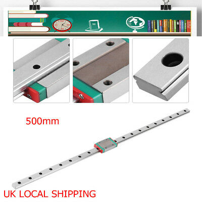 MGN12H Sliding Block Linear Slide Guide Rail 500mm Block Kit CNC 3D Printer Tool