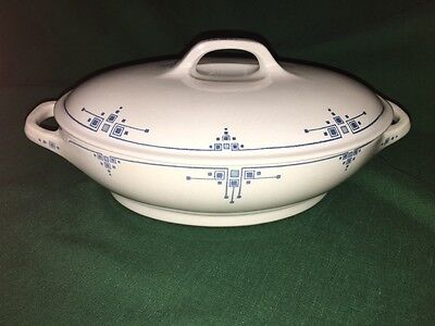 German Art Deco Bauhaus Villeroy Mettlach ELLY China Covered Entree Serving Bowl