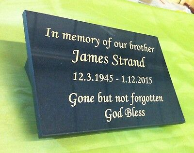 personalised granite memorial plaque grave marker